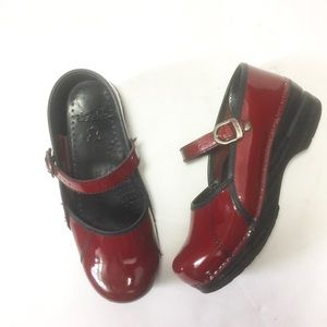 Dansko | Marcelle Patent Mary Jane Clogs, Red